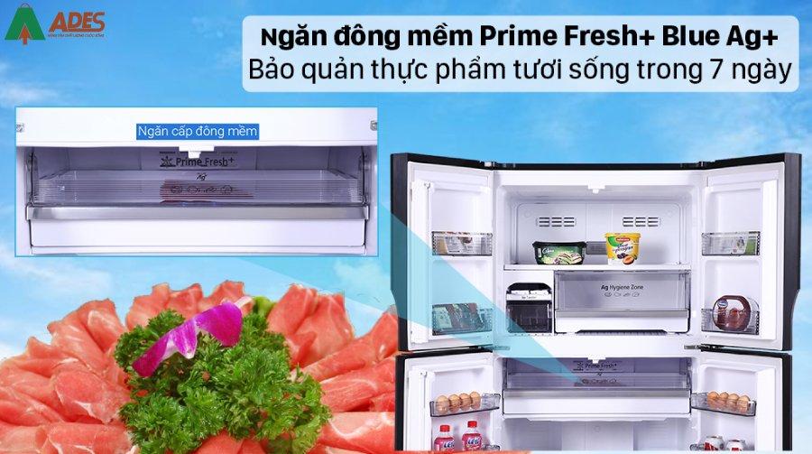 Panasonic NR DZ601VGKV Dung tich 550 lit phu hop cho gia dinh tu 4 - 5 nguoi
